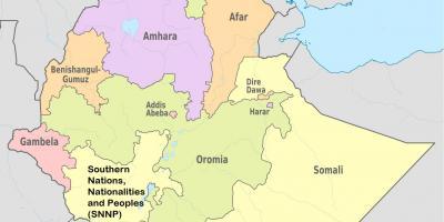 Etiopian Kartta Kartat Etiopia Ita Afrikka Ja Afrikan